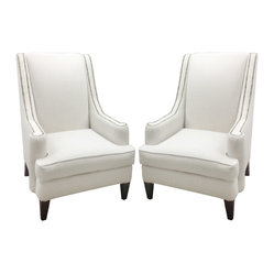 MADE IN USA - Chantel Chairs (Pair) - Dimensions: 36''W x 52''H x 42''D