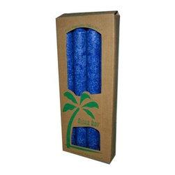 Aloha Bay Palm Tapers Royal Blue - 4 Candles - Aloha Bay Palm Tapers Royal Blue Description: