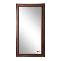 Rayne Mirrors - American Made Country Pine Full Length Mirror - This grand country pine ready to hang wall mirror provides a functional purpose while making the room appear larger with its gorgeous pine finish.  Its raised outer border adds depth while attracting the eye to its stunning full length body mirror.  Rayne's American Made standard of quality includes; metal reinforced frame corner  support, both vertical and horizontal hanging hardware installed and a manufacturers warranty.