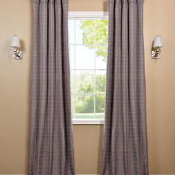 Grey Hand Weaved Cotton Curtain - The Hand Weaved Cotton curtains & drapes add a casual and warm look to any window. These drapes are tailored from the finest hand loomed cotton blend