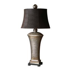 Uttermost - Antiqued Cast Aluminum Accents Afton Table Lamp - Antiqued Cast Aluminum Accents Afton Table Lamp