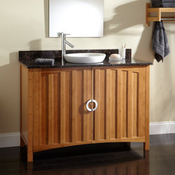 """48"""" Trang Bamboo Vanity for Semi-Recessed Sink - The 48"""" Trang Bamboo Vanity offers generous bathroom storage, couple with modern style."""