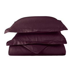 """Cotton Rich 800 Thread Count Microchecker Duvet Cover Set - King/California King - Dress up your bedroom decor with this luxurious 800 thread count Cotton Rich micro-checker duvet cover set. A superior blend of materials makes these duvet covers soft, easy to care for and wrinkle resistant. Set includes: (1) Duvet Cover 92""""x106"""" & (2) Pillowshams 20""""x36"""" each."""