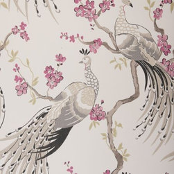Indira Wallpaper by Clarke & Clarke - I recently attended an info session where these wall coverings were introduced. Everyone was smitten with this one — must be the stately birds.