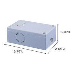 Jesco Lighting - Sleek Plus 2-wire Plastic Hardwire Box - Plastic hardwire box with control switch for use with Jesco's Sleek Plus 2-wire fixtures