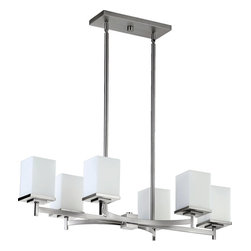 Quorum Lighting - Quorum Lighting QR-6584-6-65 Delta Modern / Contemporary Kitchen Island / Billia - Quorum Lighting QR-6584-6-65 Delta Modern / Contemporary Kitchen Island / Billiard Light