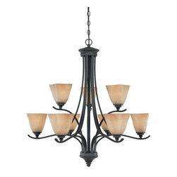 Designers Fountain Lighting - Bella Vista - Interior Chandelier in Burnished Bro -