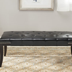 Safavieh - Safavieh Florence Black Tufted Nailhead Bench - Bring the past to your home with this mid-century styled black nailhead bench. This versatile and elegant piece features tufted seating,individual nailed cornering,and a smooth black color. This versatile bench can also be used for extra seating.