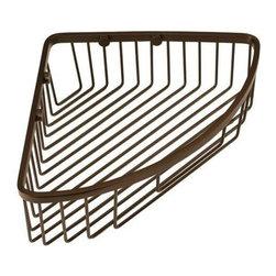 Gatco - Gatco Corner Shower Basket, Burnished Bronze (1572) - Gatco 1572 Corner Shower Basket, Burnished Bronze