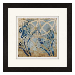 Paragon Art - Paragon Stained Glass Indigo III - Artwork - Stained Glass Indigo III ,  Paragon Giclee               Artist is Meagher , Paragon has some of the finest designers in the home accessory industry. From industry veterans with an intimate knowledge of design, to new talent with an eye for the cutting edge, Paragon is poised to elevate wall decor to a new level of style.