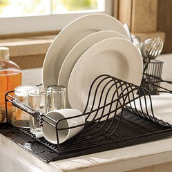 Cucina Dish Drying Rack, Antique Bronze finish