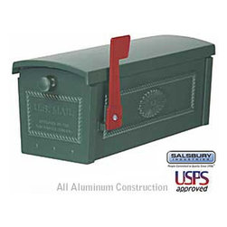 Salsbury Industries - Townhouse Mailbox - Post Style - Green - Townhouse Mailbox - Post Style - Green