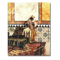 Picture-Tiles, LLC - Gnaoua In A North African Interior Tile Mural By Rudolf Ernst - * MURAL SIZE: 40x32 inch tile mural using (20) 8x8 ceramic tiles-satin finish.
