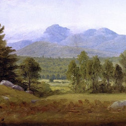 "Sanford Robinson Gifford Sketch of Mount Chocorua Print - 16"" x 24"" Sanford Robinson Gifford Sketch of Mount Chocorua, New Hampshire premium archival print reproduced to meet museum quality standards. Our museum quality archival prints are produced using high-precision print technology for a more accurate reproduction printed on high quality, heavyweight matte presentation paper with fade-resistant, archival inks. Our progressive business model allows us to offer works of art to you at the best wholesale pricing, significantly less than art gallery prices, affordable to all. This line of artwork is produced with extra white border space (if you choose to have it framed, for your framer to work with to frame properly or utilize a larger mat and/or frame).  We present a comprehensive collection of exceptional art reproductions bySanford Robinson Gifford."