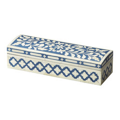 Amanda Blue Bone Inlay Storage Box