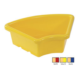 Ecr4kids - Ecr4Kids Preschool Organizer Fan Shaped Tray Without Lid Blue Pack Of 20 - Replacement Bin for use with storage units and Sand and Water Play Centers.Replacement polypropylene basin for modular Sand and Water Play Centers, Ellipse Storage Centers and other laminate storage centers.Note Colors may vary - may change without notice. Also available with clear lid (model ELR-0805-XX), sold separately To avoid attraction by animals or insects, do not leave water standing after use.