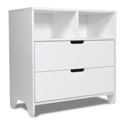 Spot on Square - Hiya Dresser, Polar White MDF Drawers - Designed by Bob Springer, part of the Spot on Square Hiya Collection. Meets or exceeds US mandatory and voluntary safety standards developed by the ASTM (American Society for Testing and Materials).