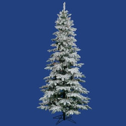 Vickerman 12 ft. Flocked Slim Utica Fir Multi LED Christmas Tree - Nothing makes quite so grand a statement as the elegant and towering Vickerman 12 ft. Flocked Slim Utica Fir Multi LED Christmas Tree. Standing 12 feet high, this slim, flocked tree features a dense arrangement of 2,915 tips that conceal 1,150 cool LED lights in an array of bright colors. LEDs run cooler and more efficiently than standard bulbs, making them much more friendly to your utility bills. A simple foot-switch lets you turn the tree on and off, and when the season is over, the hinged branch design allows for simple, space-saving storage.Specifications Shape:SlimeBase Width: 65 inchesNumber of Bulbs: 1150Number of Tips: 2915Don't Forget to Fluff!Simply start at the top and work in a spiral motion down the tree. For best results, you'll want to start from the inside and work out, making sure to touch every branch, positioning them up and down in a variety of ways, checking for any open spaces as you go.As you work your way down, the spiral motion will ensure that you won't have any gaps. And by touching every branch you'll create the desired full, natural look.About VickermanThis product is proudly made by Vickerman, a leader in high quality holiday decor. Founded in 1940, the Vickerman Company has established itself as an innovative company dedicated to exceeding the expectations of their customers. With a wide variety of remarkably realistic looking foliage, greenery and beautiful trees, Vickerman is a name you can trust for helping you create beloved holiday memories year after year.