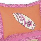 Sweet Jojo Designs - Surf Pink & Orange Pillow Sham - The Surf Pink & Orange standard pillow sham is created exclusively to coordinate with the Sweet Jojo Designs matching bedding set. This pillow sham is a quick and easy way to complete the look and theme in your child's bedroom. Machine washable. Fits all standard sized pillows. Dimensions: 20in. x 26in.