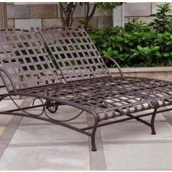 Online shopping for furniture decor and home for Black wrought iron chaise lounge