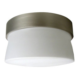 AFX Lighting - AFX Lighting Aria Mini Flush (Indoor/Outdoor) Ceiling Mount Fixture - Shown in picture: Indoor/ outdoor mini flush mount. Corrosion resistant cast aluminum housing. Satin nickel finish with tea stained glass. Ceiling or wall mount. UL listed for wet locations. 120V 13W 4 pin CFL lamp included(2700K)