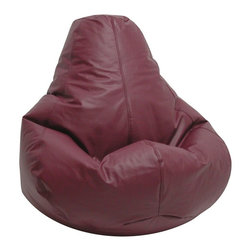 Elite Products - Lifestyle Extra Large Durable Bean Bag w Zipp - Create easy chair styling without the price. Extra large bean bags are soft and lightweight with classic filling that conforms to any shape. A beautiful shade of burgundy makes them a stylish choice for casual living spaces and any decor. * Long lasting and durable. Pear shape body for add comfort. Double stitched with double overlap folded seam. Double zippered bottom for added security. Childproof safety lock zippers (pulls have been removed). Can easily be refilled by an adult. Easy to clean. Recommended seating age: 10 years + and adults. Warranty: One year limited. Made from PVC vinyl, polystyrene bead. Made in USA. No assembly required. 41 in. L x 39 in. W x 33 in. H (11 lbs.)Extra large bean bag chairs are just the right size for dorms, but they're in demand for homes and apartments, too. Great for any entertainment setting or for studying. Surround yourself with oversized luxurious comfort.