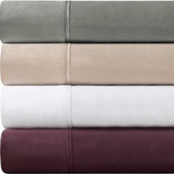 JLA Home Madison Park 600TC Pima Solid Cotton Sheet Set - Does it get any better than the JLA Home Madison Park 600TC Pima Solid Cotton Sheet Set? This set is pure luxury, constructed of 100% 600-thread count pima cotton for supreme comfort. Each set, available in your choice of size and attractive color options, comes complete with one fitted sheet, one flat sheet, and two pillowcases. An 18-inch sheet depth makes this set perfect for just about any of today's mattresses. To keep this set as lovely as the day you buy it, be sure to machine-wash in cold water on the gentle cycle, avoid bleach, and then tumble dry on low for best results. Now, go! Choose your size and color and get set for some very sweet dreams while wrapped in this serene sheet set!
