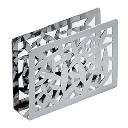 "Alessi - Alessi ""Cactus!"" Paper Napkin Holder - Open-work paper napkin holder in 18/10 stainless steel, mirror polished."