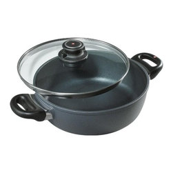 Swiss Diamond - Swiss Diamond Nonstick 3.2-Quart Casserole & Stew Pan with Lid - What's for dinner? Answer the age old question with a warm and hearty casserole prepared in this attractive — and versatile — nonstick pot. From the oven to the table, it'll dish up meals your family will love.