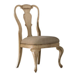 Hooker Furniture - Wakefield Splat Back Side Chair, Set of 2 - Featuring a unique taupe paint finish with cherry and pine wood undertones, Wakefield will be at home in all sophisticated casual lifestyles, ranging from loft to studio apartment and from coastal to country to cottage.
