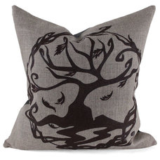 Eclectic Decorative Pillows Celtic Tree of Life Pillow