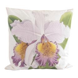 "Poetic Pillow - Cattleya Hardyana Pillow - • 18"" X 18"" square pillow"