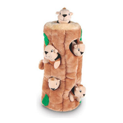 Kyjen - Hide-A-Squirrel Ginormous - Introducing Ginormous versions of our best-selling signature Plush Puppies! These oversized toys will attract attention in your store. Selling just one brings in more profit than multiple bags of low-margin dog food!