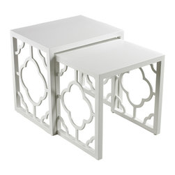 Sterling Industries - Sterling Industries 136-007/S2 Gloss White Nesting Table - Nesting Table (2)