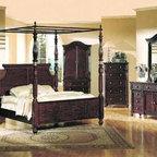 Yuan Tai Furniture - Edinburgh Eastern King Poster Bed - ED6651K - Resin Carvings