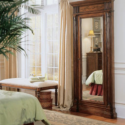 Hooker Furniture - Hooker Furniture Floor Mirror with Jewelry Armoire Storage 500-50-558 - Finish matches the 100-65-000 and 100-65-222