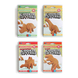Suck UK - Dinosaur 3D Cookie Cutters - Cookie cutters in the shape of dinosaur body parts. Cut out cookie dough, bake in the oven, then slot the cookies together to make edible dinosaurs that will stand up your plate. Create the tastiest treats this side of the Jurassic period... then eat them into extinction. Each Dinosaur Cookie Cutter includes cutters for the body parts required to bake a whole dinosaur, with 4 styles available (Triceratops, Stegosaurus, Brachiosaurus and T-Rex).
