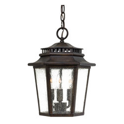 Minka Lavery - Minka Lavery Outdoor 8274-A357 Wickford Bay Iron Oxide 3 Light Pendant - Clear Seeded Glass Shade