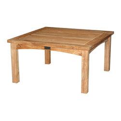 "Douglas Nance - Douglas Nance Saybrooke 30"" Coffee Table - Rock solid teak square coffee table. Slat top, arched side rails."