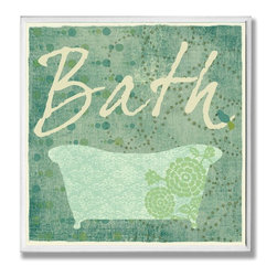 Stupell Industries - Cool Bath Wall Plaque - Made in USA. Ready for Hanging. Hand Finished and Original Artwork. No Assembly Required. 12 in L x .5 in W x 12 in H (2 lbs.)Point your guests in the right direction with elegant bathroom plaques from The Stupell Home decor CollectionEach plaque comes with a sawtooth hanger for easy installation on bathroom doors or walls.