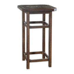 Uttermost - Reijo Bar Table - Your bar scene is sure to get buzzed about with this handsome table in place. Crafted of solid acacia wood, it boasts a ribbed surface and a dark stain, the bonus being the rugged finish that's ideal for indoor or outdoor use.