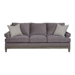 vanguard - vanguard Rugby Road Sofa 9043-S - Viewpoint Indigo On Body, Band Ebony At Base, Cortez Dove On Throw Pillows, Langdon Finish