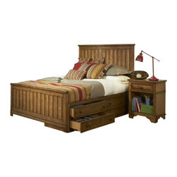 Legacy Classic Kids - Legacy Classic Kids Timber Lodge Twin Panel Bed with Underbed Storage - Legacy Classic Kids Timber Lodge Twin Panel Bed with Underbed Storage 2961-8510K