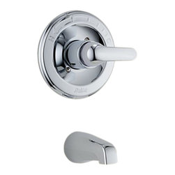 Delta - Delta T13120 Classic Monitor 13 Series Tub Trim Only (Chrome) - Delta T13120 Classic Collection is designed to complement any homes design style  with simple and sensible style. The Delta T13120 is a Monitor Tub Only Trim in Chrome.