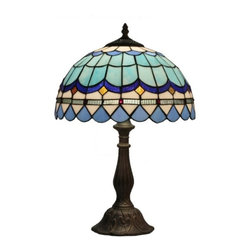 ParrotUncle - Resin Base Stained Glass Tiffany Table Lamps - Resin Base Stained Glass Tiffany Table Lamps
