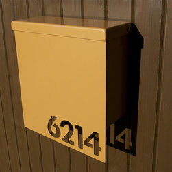Address Plaques - Custom House Number Mailbox No. 1310 Drop Front in Powder Coated Aluminum