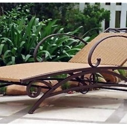 International Caravan Valencia Outdoor Wicker Patio Chaise Lounge - Perfect for curling up with the latest bestseller as you keep an eye on the kids splashing in the pool, the International Caravan Valencia Outdoor Wicker Patio Chaise Lounge is as fetching as it is functional. Featuring weather-resistant, easy-to-clean outdoor resin wicker over sturdy pecan-finish steel frame, this chaise is sure to be your favorite poolside furniture for years to come. Five adjustable recline positions let you relax just the way you want to while two rear wheels make transport a breeze. If you're looking for an elegant piece of patio furniture without sacrificing function, this chaise lounge is just right for you.