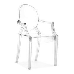 Zuo - Anime Dining Chair Sold as Set of 4, Transparent - The Anime dining chair is glamourous and chic, but is not as delicate as it may seem.  Feature this versatile chair in any room in your home including the dining room, living room, bedroom or office.   The body is molded from polycarbonate or Lexan, which is commonly used as bullet proof glass and is UV resistant. The Anime dining chair comes with a two year commercial grade warranty against cracking and fading. The chairs are also stackable for easy storage. Sold as a set of four (package cannot be broken).