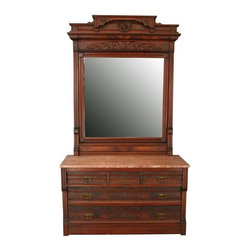 EuroLux Home - Consigned Antique Eastlake Vanity Dressing Table 1890 - Product Details