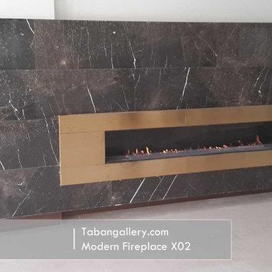 Modern Fireplace X02 -